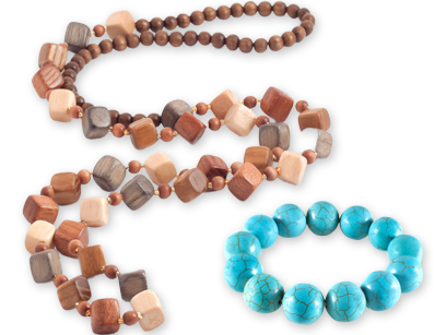 La beauté des bijoux en matières naturelles recyclées
